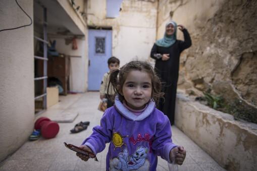 Syrian refugee kids - safe space