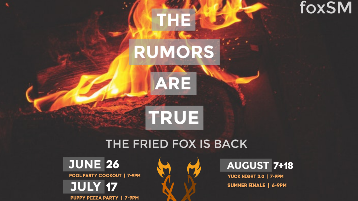 Fried Fox Student Summer Events