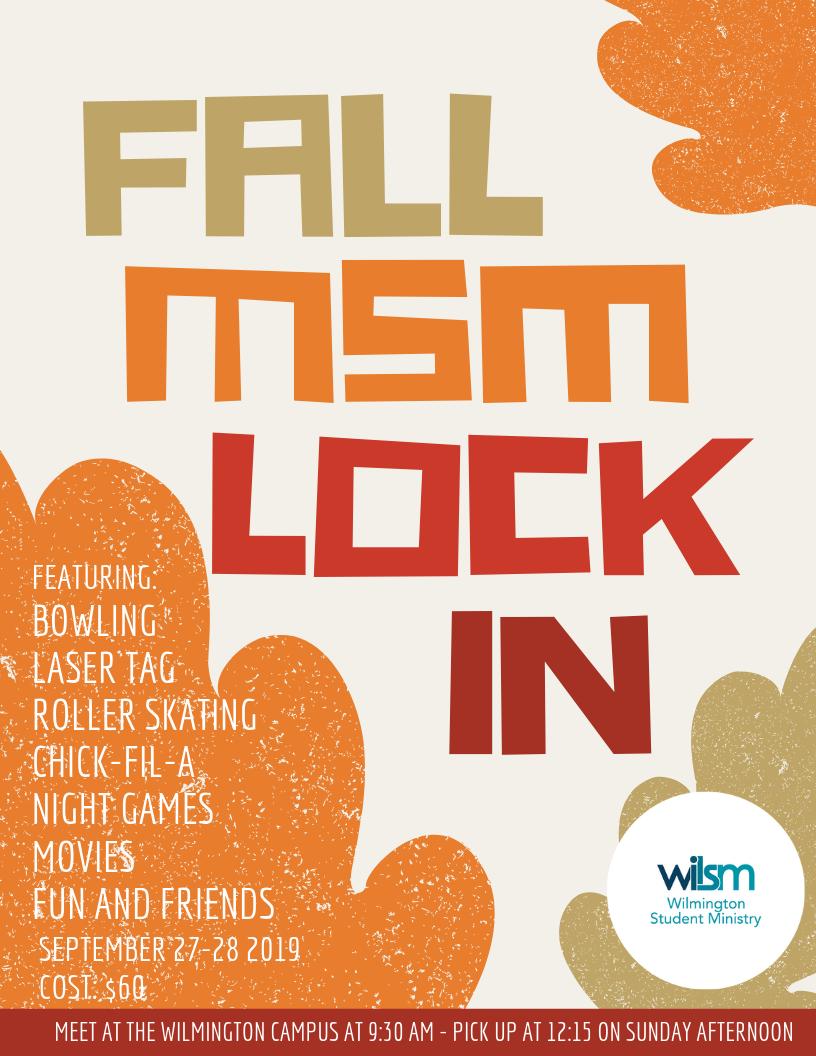 WIL MSM Fall Lock In