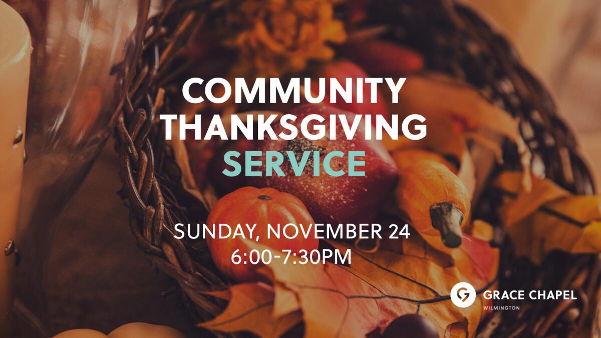 Wilmington Community Thanksgiving Service